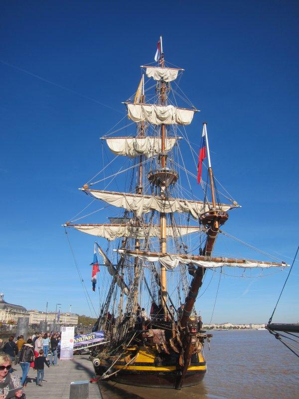 La fregate russe  Shtandart a Bordeaux