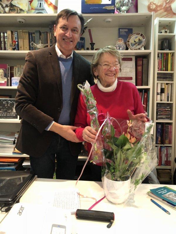 Avec Madame Kiener qui célèbre son anniversaire!