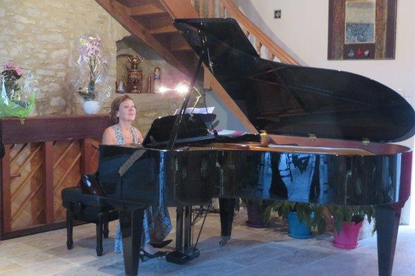 Le concert chez Mme et M. Chastaing, le 28 juillet 2020