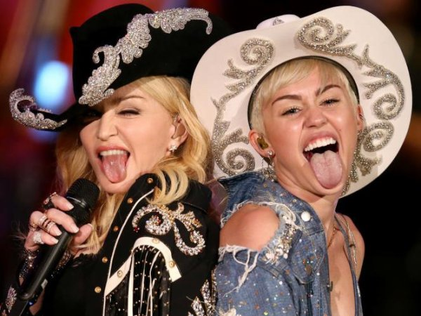 #Madonna and Miley