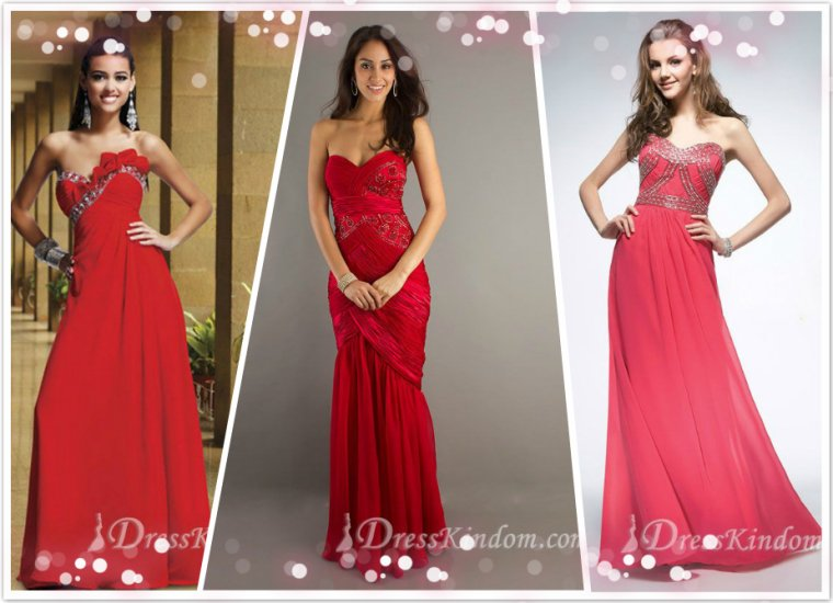 The basic color of evening dress