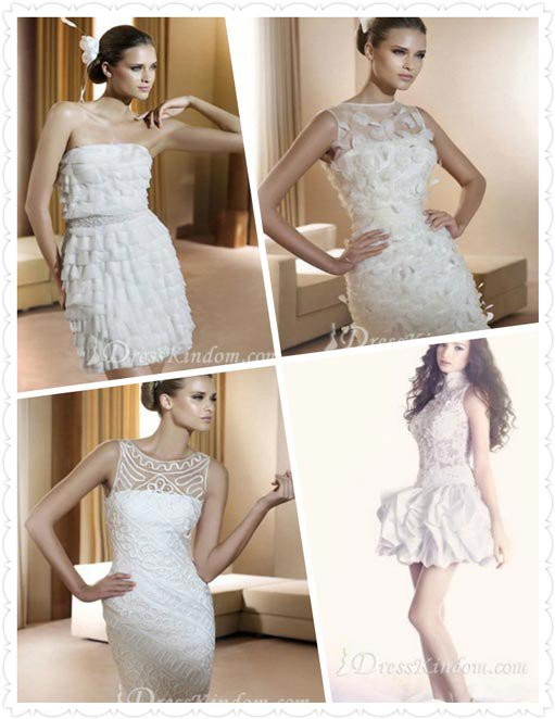 Selecting the wedding dress you should choose the simple one rather than complicated one!