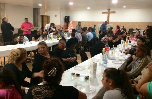 L'église pour le repas de Noël