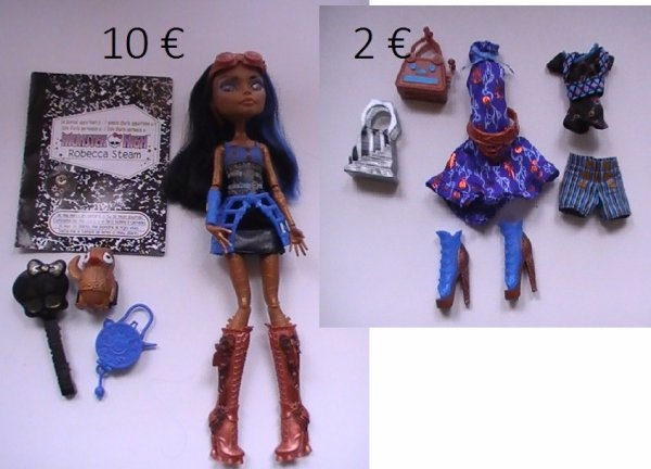 Je vend mes Monster high !