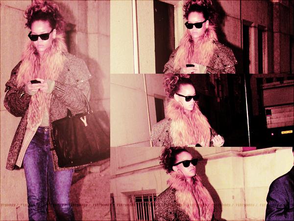 . JEUDI 13OCTOBRE 2011 Rihanna malheuresement toujours malade à été aperçu quittan son hôtel toujours à Londres!Malgré qu'elle soit malade, Rihanna reste toujours au TOP! Ses chaussures son magnifique! Un TOP pour Riri..