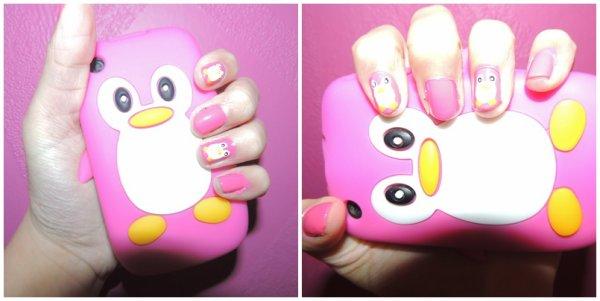 ✦ Pingouin nail art. ✦