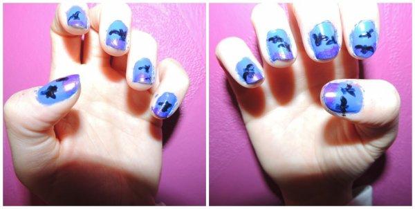 ✦ Bird nail art. ✦