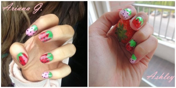✦  Strawberries nails - Inspiration Ariana Grande - Spécial SUMMER! ✦