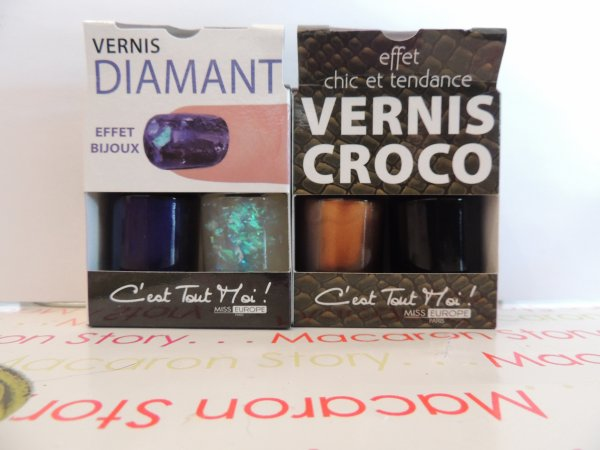 "✦ Nail art ""Diamant"" et ""Croco"". ✦"
