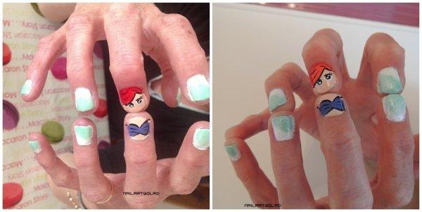 ✦ Ariel nail art. ✦