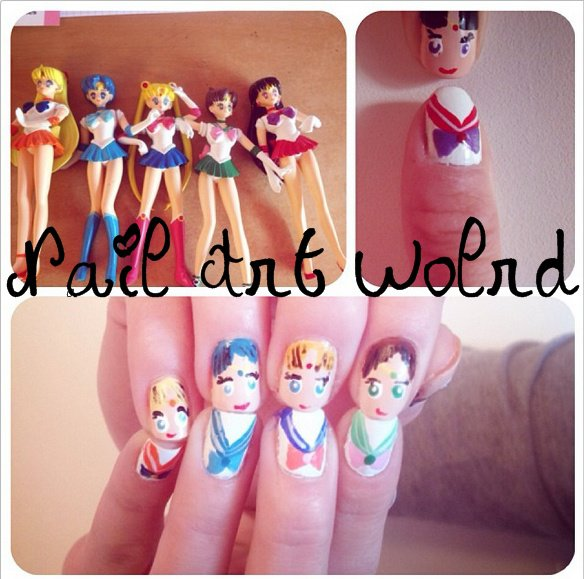 ✦  Sailor Moon Nail Art. ✦