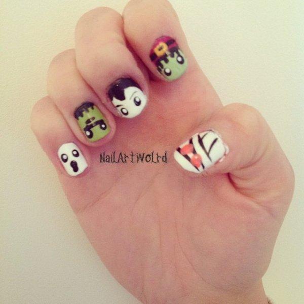 ✦ Halloween nail art n°2. ✦
