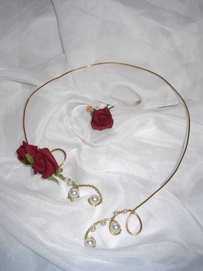 "collier  "" rose eternelle """