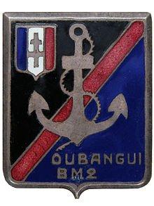 B. M . 2 : BATAILLON DE MARCHE 2 DE L'OUBANGUI-CHARI