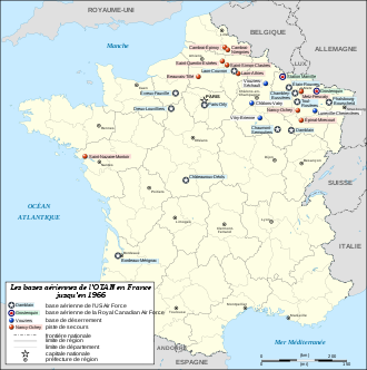 BASES  MILITAIRES AMERICAINES EN FRANCE
