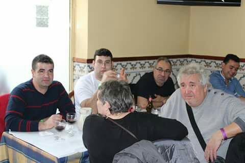 Déjeuner entre éleveurs canaris Arlequim Portugues Mondial 2016