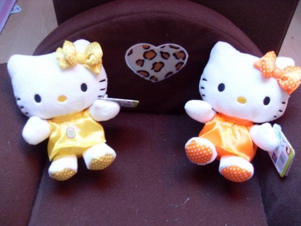 Peluches hello kitty jaune et orange blog kitty fan72 - Hello kitty et mimi ...