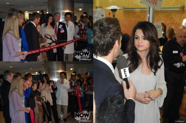 14 novembre 2012 : Selena à l'inauguration du Children's Medical Center, à Dallas, au Texas