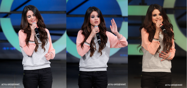 6 février 2013 : Selena était au Adidas Neo Runway Show, à New York