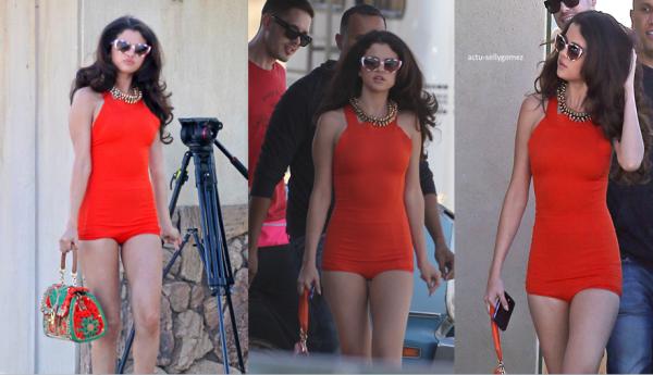 4 mars 2013 : Selena sur le tournage de son prochain clip, en Californie