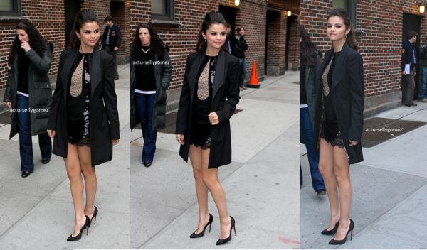 18 mars 2013 : Selena arrivant au The Late Show with David Letterman