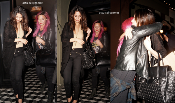 24 janvier 2014 : Selena était au Beats Music Launch Party avec Ashley Benson, au Belasco Theatre
