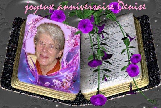 Joyeux anniversaire Denise  !