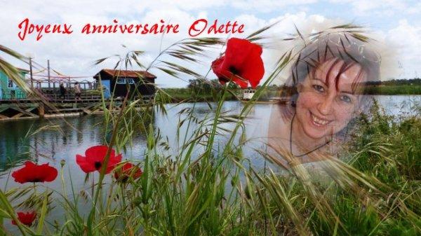 Joyeux anniversaire Odette et ..Nico