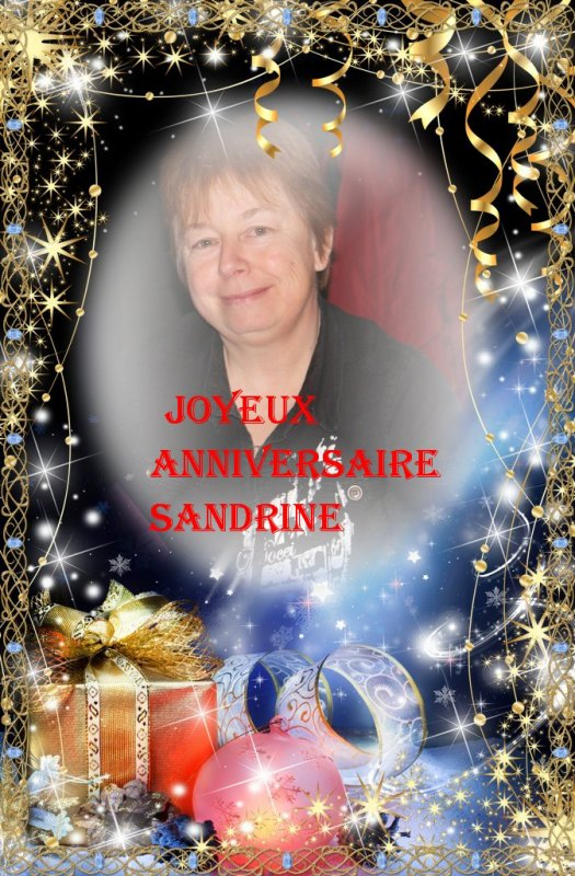 Joyeux anniversaire Sandrine ..