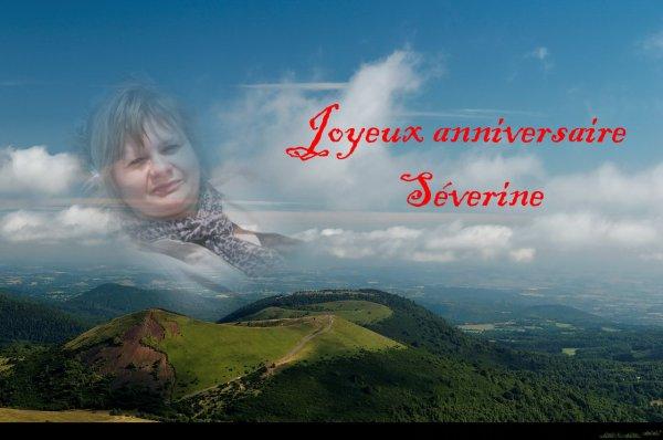 Joyeux anniversaire Séverine ..