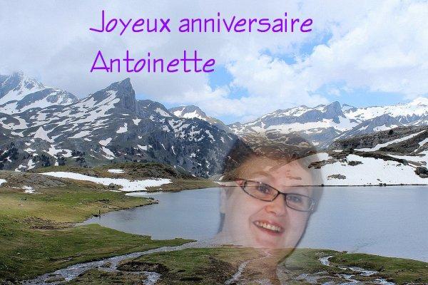 Joyeux anniversaire Antoinette..