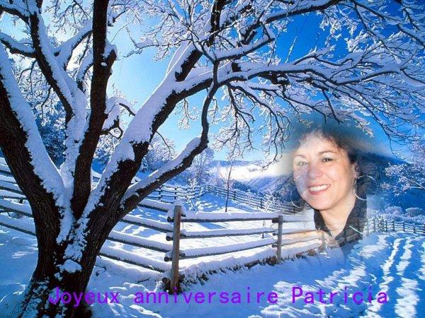 Joyeux anniversaire Patricia..