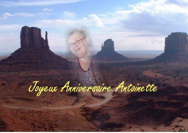 Joyeux anniversaire Antoinette !