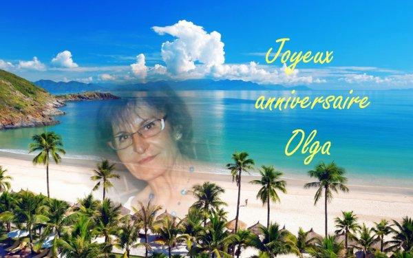 Joyeux anniversaire Olga