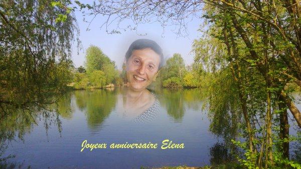 Joyeux anniversaire Elena..