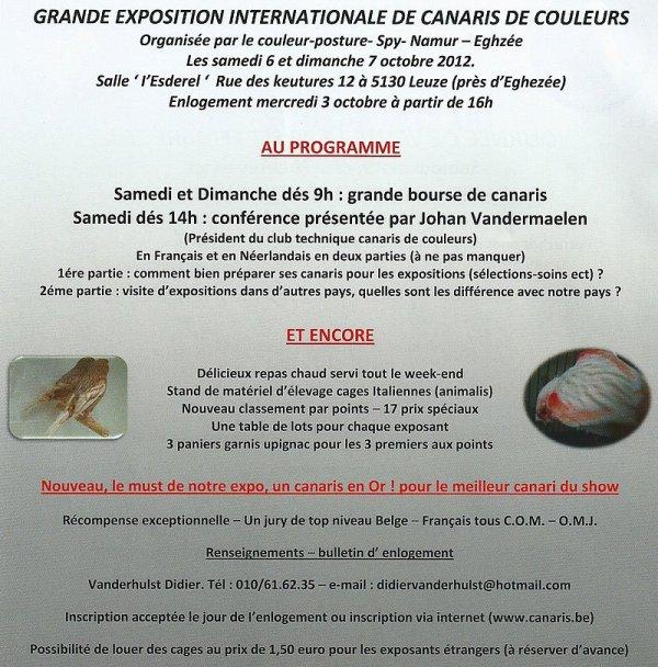 Invitation exposition cpsne 2012 canaris de couleurs