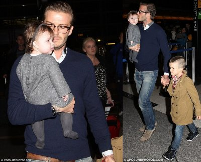 Beckham Family, LAX Airport 16.12.11