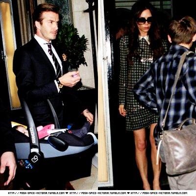 Les Beckham quittent leur hotel, le 31 décembre.