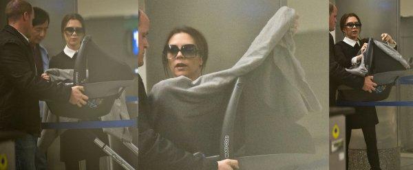 Harper de retour à L.A. après la Fashion Week !  18 février, 2012.