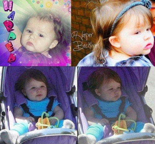 Je souhaite le plus merveilleux des anniversaires à ma princesse Harper Seven Beckham qui souffle sa première bougie aujourd'hui. Tu mérite tout le bonheur et l'amour du monde. Mille baiser, Harper. La webmiss HS-B.