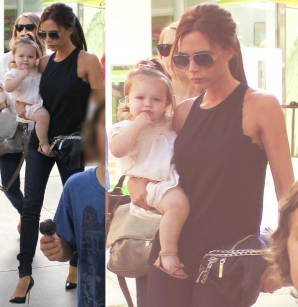 ✽ Harper & Mummy quitte un restaurant à L.A. après une fête, 26.08.2012 ✽.