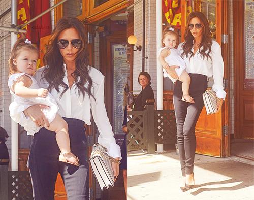 Harper est parti déjeuner avec Mummy au Pastis à NY, 10.09.2012