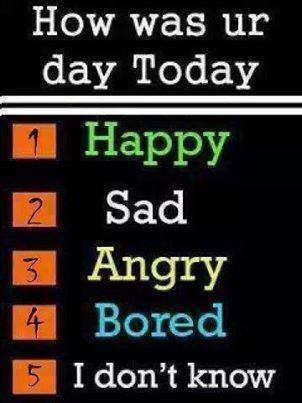 how was ur day today?
