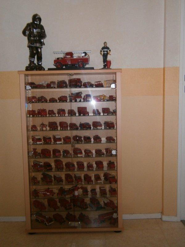ma vitrine de camion de pompier