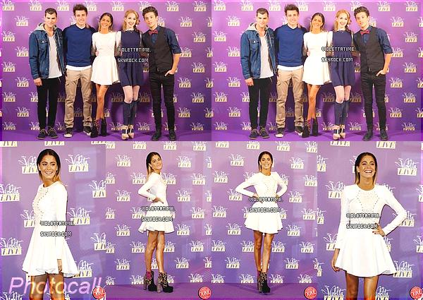 Jeudi 29 Janvier 2015 : Martina, Jorge, Diego, Meredes et Ruggero était présent à une conférence de presse pour ViolettaLive à Milan.
