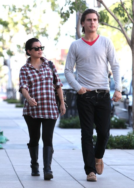 Kourtney Kardashian et Scott Disick vont déjeuner.