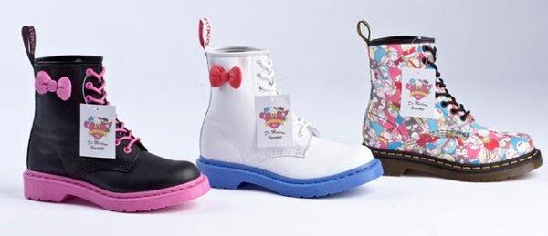 Doc Martens et Sanrio fêtent ensemble leur 50ème anniversaire et s'associent pour une collection de chaussures.