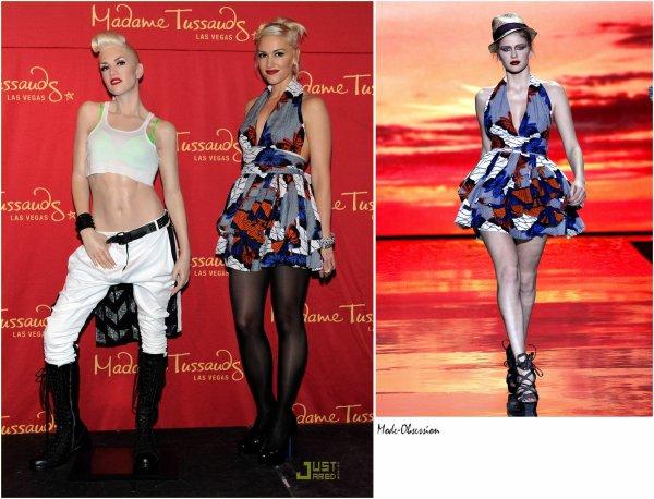 Gwen Stefani porte des vêtements de sa collection L.A.M.B.