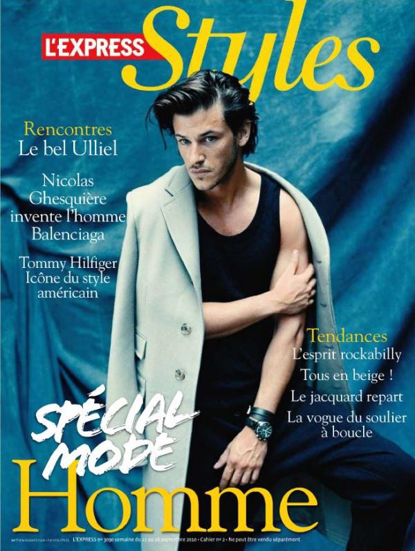Gaspard Ulliel pose pour L'Express Styles.