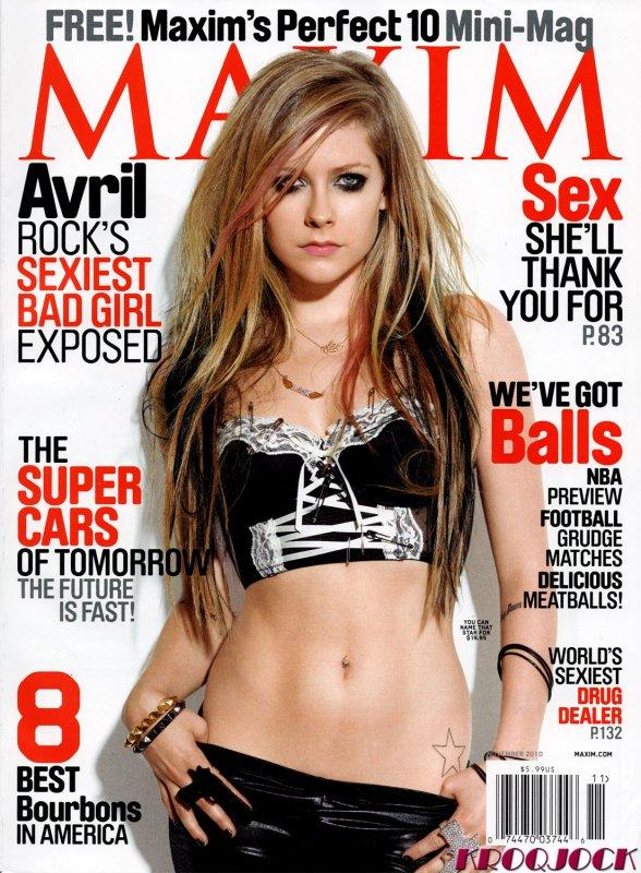 Avril Lavigne pose pour Maxim. Taylor Momsen pose pour Revolver.
